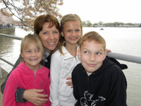 Kids with Curt's sister Pam